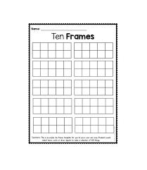 free ten frame template 02 printable
