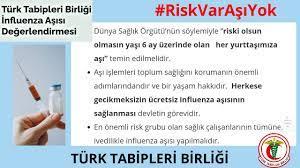 """TürkTabipleriBirliği on Twitter: """"Grip Aşısı: ▪️Riski olsun olmasın yaşı 6  ay üzerinde olan her yurttaşımıza aşı. ▪️Aşı bir yaşam hakkıdır. Herkese  gecikmeksizin ücretsiz influenza (grip) aşısının sağlanması. ▪️Sağlık  çalışanlarının tümüne ..."""