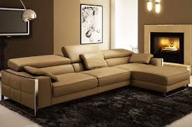 Impressive Modern Brown Couches Simple Leather Mid Century Chaise Intended Ideas