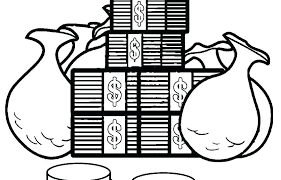 Money Coloring Pages Money Coloring Pages For Preschoolers Coloring