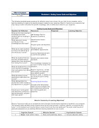best photos of objectives and goals worksheet goal setting goal setting worksheet template