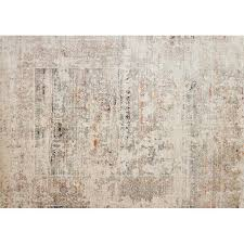 loloi javari 12 x 15 contemporary rug in ivory and granite