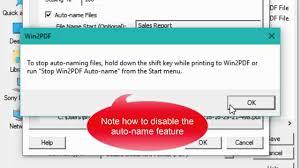 How To Automatically Name Pdf Files Using Win2pdf S Auto Name
