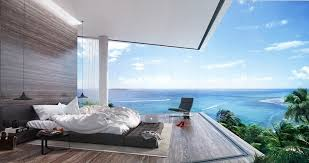 Feng Shui bedroom luxury with a panoramic ocean view