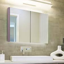 kleankin wall mount bathroom mirrored