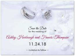 Save The Date For Wedding Platinum Promise Wedding Save The Date Cards