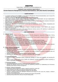 Hr Executive Sample Format It For Freshers In Word Best