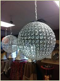 sheer shade crystal ball chandelier crystal ball chandelier chandeliers for low ceilings