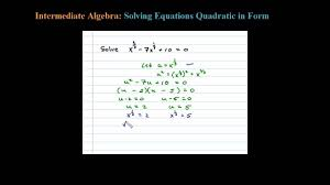 solve an equation quadratic in form using a u substitution you quadratic equations worksheet 1025325 myscres