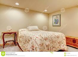 Small Basement Bedroom Light Cosy Small Basement Bedroom Without Windows Royalty Free