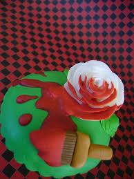 painting the roses red cupcake