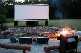 Domestic Fashionista Backyard Movie Night ReturnsMovie Backyard