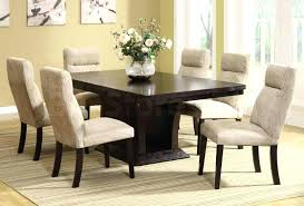 white dining room sets white dining room set with white smoke parsons upholstered dining chairs and