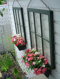 repurposed window planter boxes