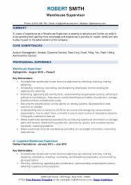 Warehouse Supervisor Cover Letter Example Warehouse Supervisor Resume Samples Qwikresume