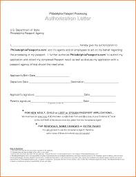 Authorization Letter For Passport Pickup Authorization Letter Pdf