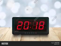 Digital Time Clock For Lighting Closeup Red Led Light Image Photo Free Trial Bigstock