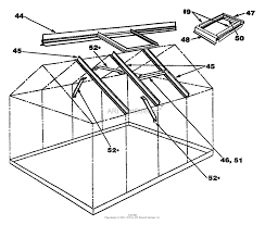 15000a elite 12u0027 x 8u0027 deluxe greenhouse roof assembly ponents 1 print diagram sc 1 st jacks small engines