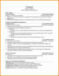 Graduate School Application Resume Template High Student Canada Word