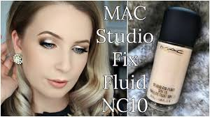mac studio fix fluid nc10 review on pale skin pare swatches demo