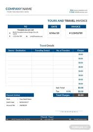 Free Tour And Travel Invoice Template Pdf Word Excel