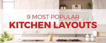 basic kitchen design. Plain Kitchen The 9 Most Popular Kitchen Layouts Inside Basic Design