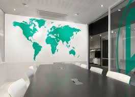 office world map. Extra Large Office World Map Vinyl Wall Sticker In By Impression T