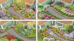 front yard flower garden plans. four landscaping ideas for a front yard flower garden plans