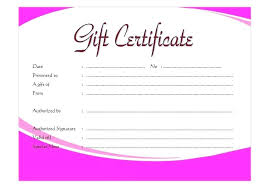 printable blank gift certificates certificate template for vouchers spa voucher design