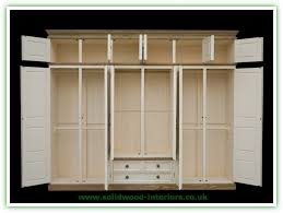pine wardrobe triple 6 doors with 3 drawers with top box