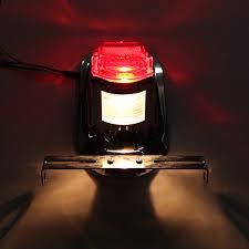 Stop Light Lamp Motorcycle Rear Tail Lights Brake Stop Light Lamp License Plate Bracket For Harley Chopper Cafe Race