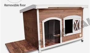 plastic outdoor dog kennel flooring pet dog kennel house flat roof wooden kennel