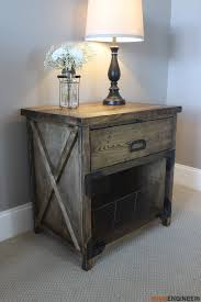 people who love rustic or countryside look a lot would definitely pick this easy to build diy nightstand this exclusive nightstand comes with a unique