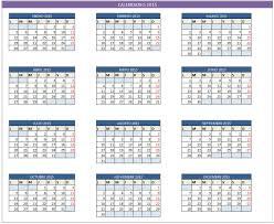 Planilla De Excel De Calendario 2015 Planillaexcel Com