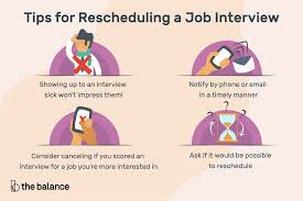 rescheduling an interview how to reschedule a job interview