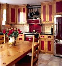 image by traditional log homes ltd red painted kitchens china cabinets kitchen rustic with butcher block modern kitchen cabinets
