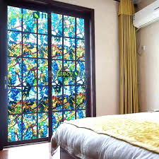 stained glass window stickers stained glass window covering fancy fix g stained glass window for living stained glass window stickers