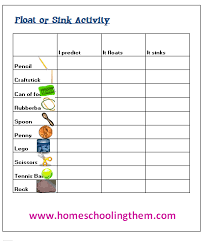 Science Experiment Chart Fun Science Experiment Buoyancy This Is The Sort Of