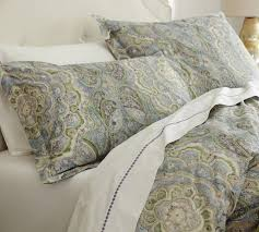 rosalie paisley duvet cover sham blue pottery barn throughout green navy blue duvet cover king size check covers mackenna paisley cal