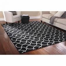 8 x 10 indoor black white area rug mat carpet living room regarding white 8x10 area rug