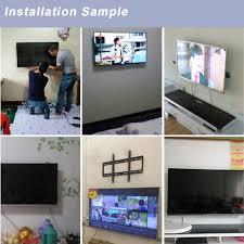 slim steel 14 55 led lcd tv wall mount bracket stand for samsung sony philips