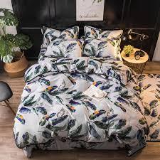 green leaves fleece duvet cover set queen bedding sets for s fresh flannel quilt cover bed sheet pillow case soft bed linen duvet sets king size red
