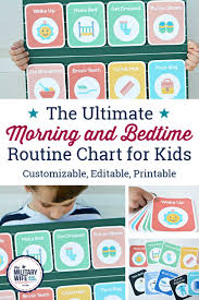 The Best Morning Bedtime Routine Chart That Keeps Kids On Task