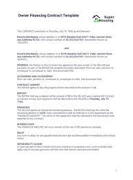 Comprehensive microsoft word templates repository to download hundreds of free word templates, including resume, calendar, invoice, receipt, agenda, letter, form. Owner Financing Contract Template Pdf Templates Jotform