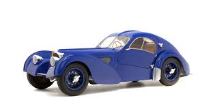 The exquisite 1936 bugatti type 57 sc coupé atlantic owned by walmart chairman rob walton and the mullin automotive museum took top honors in the peninsula classics. Bugatti Type 57 Sc Atlantic Dark Blue 1937 Solido