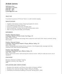 Personal Trainer Resume Template Amazing Athletic Trainer Resume Markedwardsteen