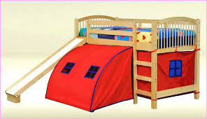 bunk bed with slide and tent. Tent Bed With Slide Kids Design Impressive Red Simple Classic Decoration Ideas . Bunk And S