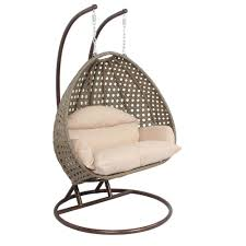 2 person wicker egg basket swing chair patio outdoor furniture
