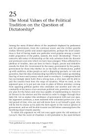 the moral values of the political tradition on the question of inside
