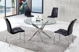 modern glass kitchen table. Perfect Kitchen Round Glass Dining Tables With Modern Kitchen Table A